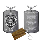 Police and St michael Prayer Pendant