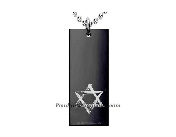 Star of David Rectangle Pendant-Necklace