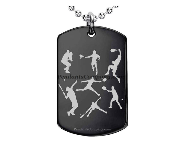Tennis #1 Pendant-Necklace