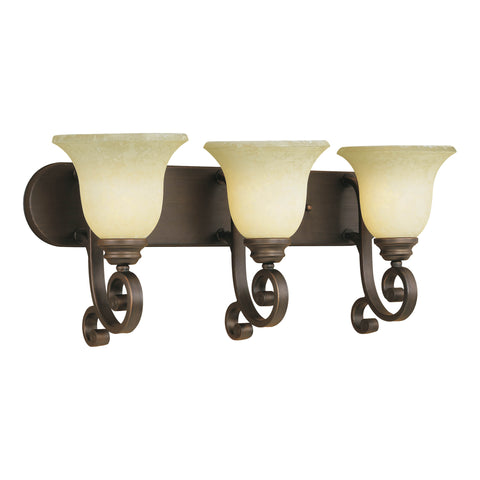 Millennium 3-Light Rubbed Bronze Vanity Light - Batavia Electric Supply