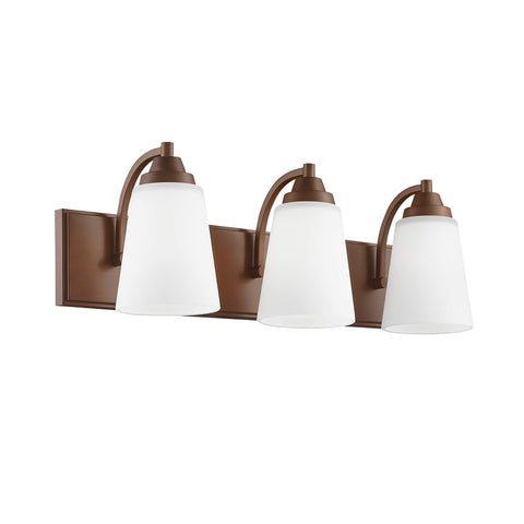 Millennium 3-Light Vanity Light in Rubbed Bronze - Batavia Electric Supply