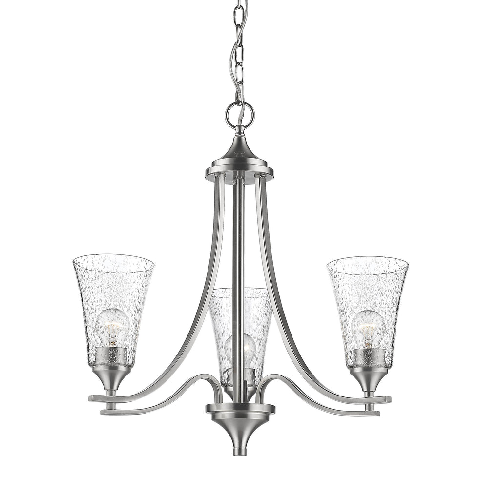Millennium 3-Light Chandelier in Satin Nickel - Batavia Electric Supply