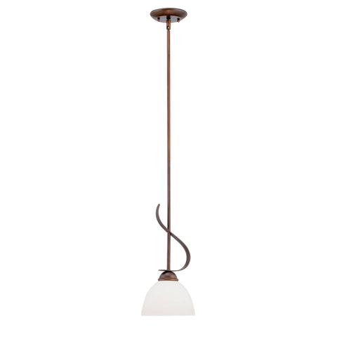 Millennium 1-Light Rubbed Bronze Pendant - Batavia Electric Supply