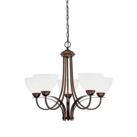 Millennium 5-Light Rubbed Bronze Chandelier - Batavia Electric Supply