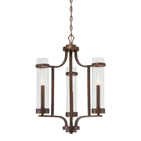 Millennium 3-Light Rubbed Bronze Chandelier - Batavia Electric Supply