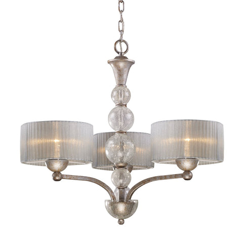 Elk 3-Light Chandelier in Antique Silver