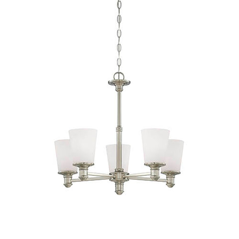 Millennium 5-Light Satin Nickel Chandelier