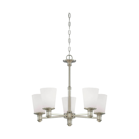 Millennium 5-Light Satin Nickel Chandelier - Batavia Electric Supply