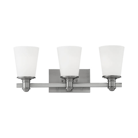 Millennium 3-Light Satin Nickel Vanity Light - Batavia Electric Supply