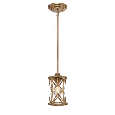 Millennium 1-Light Vintage Gold Pendant - Batavia Electric Supply