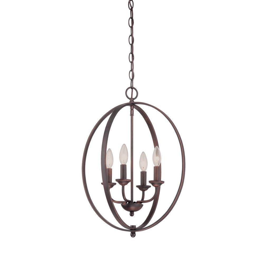 Millennium Rubbed Bronze Candle Chandelier - Batavia Electric Supply