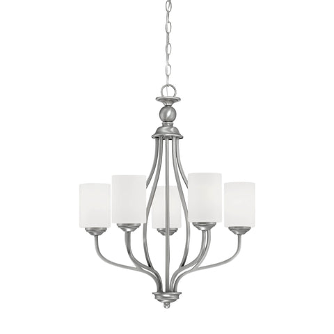 Millennium 5-Light Brushed Pewter Chandelier - Batavia Electric Supply