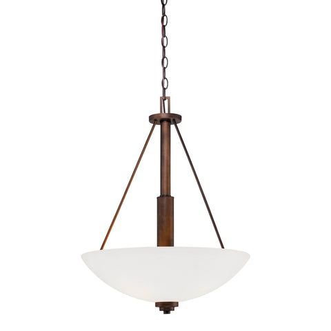 Millennium 3-Light Rubbed Bronze Pendant - Batavia Electric Supply