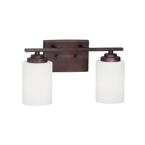Millennium 2-Light Rubbed Bronze Vanity Light - Batavia Electric Supply