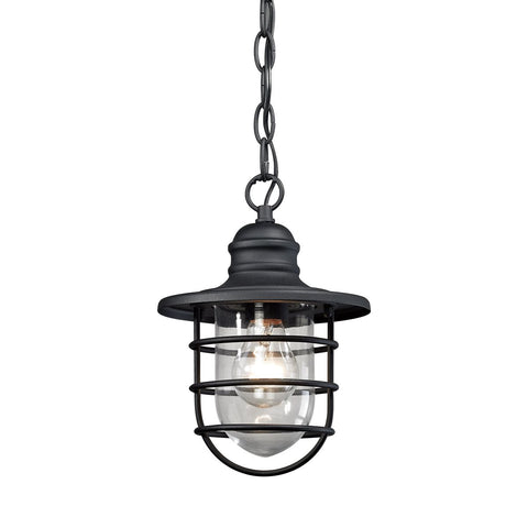 Elk 1-Light Outdoor Wall Sconce in Charcoal