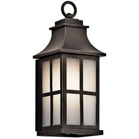 This 1 light small outdoor lantern from the Pallerton Way™ collection enriches the exterior of your home with welcoming warmth. The Olde Bronze finish and etched seedy glass gives off an updated traditional style.