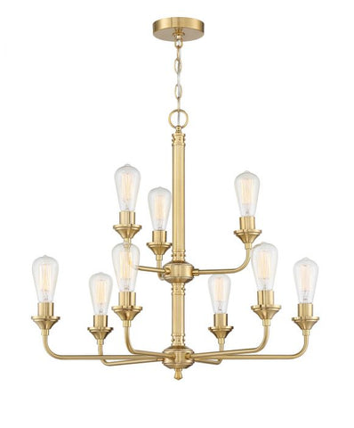 Craftmade 9-Light Satin Brass Chandelier