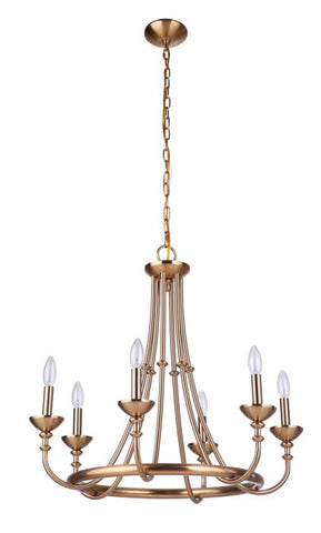 Craftmade 6-Light Satin Brass Chandelier