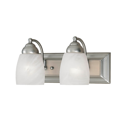 Millennium 2-Light Satin Nickel Vanity - Batavia Electric Supply