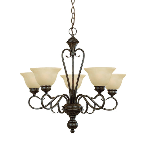 Millennium Burnished Gold 5-Light Chandelier - Batavia Electric Supply