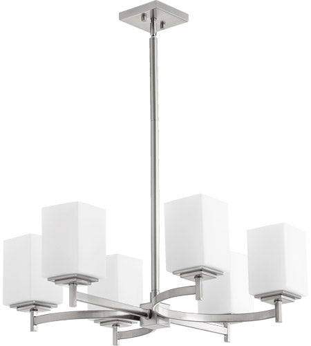 Quorum Lighting 6-Light Satin Nickel Chandelier - Batavia Electric Supply