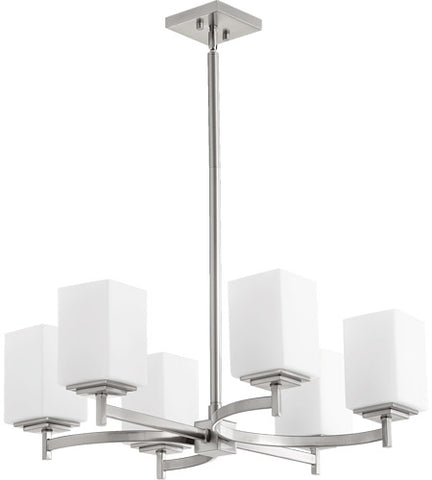 Quorum Lighting 6-Light Satin Nickel Chandelier