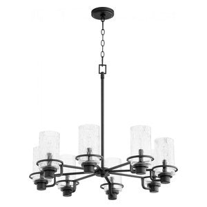 Quorum 6-Light Black Chandelier