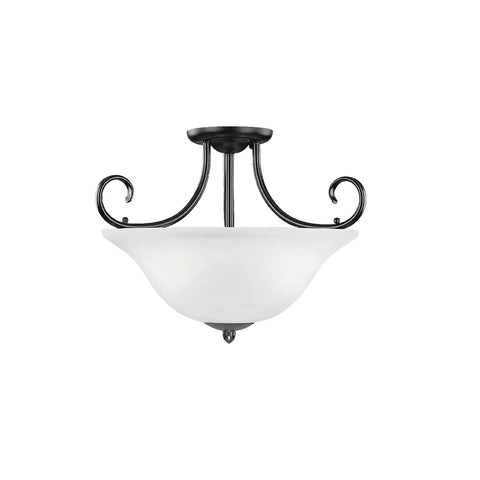 Millennium 3-Light Semi-Flush Ceiling Mount