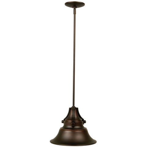 Oiled Bronze Gilded Outdoor Pendant - Batavia Electric Supply