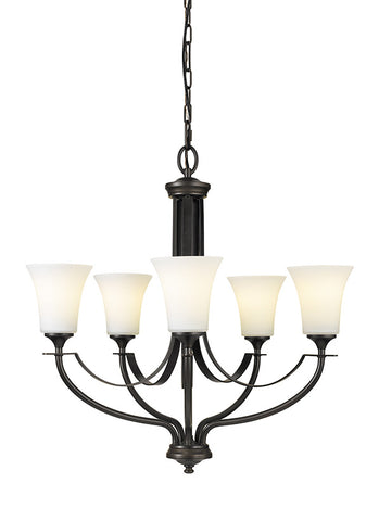 Feiss Oil Rubbed Bronze 5-Light Chandelier - Batavia Electric Supply