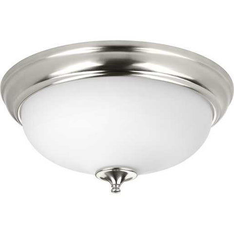 Progress Lighting 1-Light LED Flush Mount in Brushed Nickel - Batavia Electric Supply