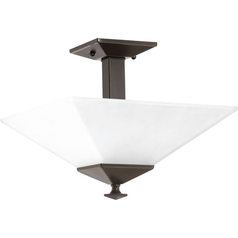 Progress Lighting 2-Light Bronze Semi-Flush Mount - Batavia Electric Supply