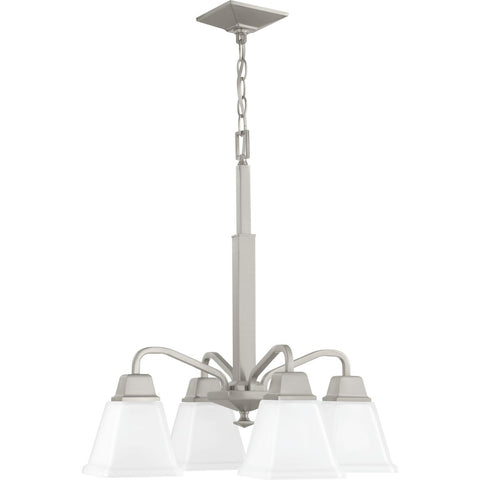 Progress Lighting 4-Light Chandelier in Brushed Nickel - Batavia Electric Supply