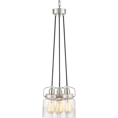 A trend in home decor is the repurposing of antique pieces. The Calhoun Collection playfully follows this trend with an apothecary style clear glass diffuser held in place with a mechanical latch from a spice container. A glass shade showcases a thickened profile to create a vintage-style surface for a classic handmade appearance.