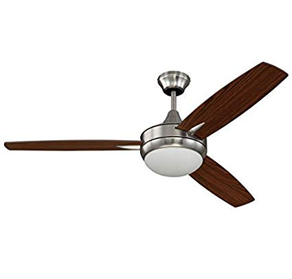 "Craftmade 52"" Ceiling Fan with Blades and Light Kit in Brushed Polished Nickel - Batavia Electric Supply"