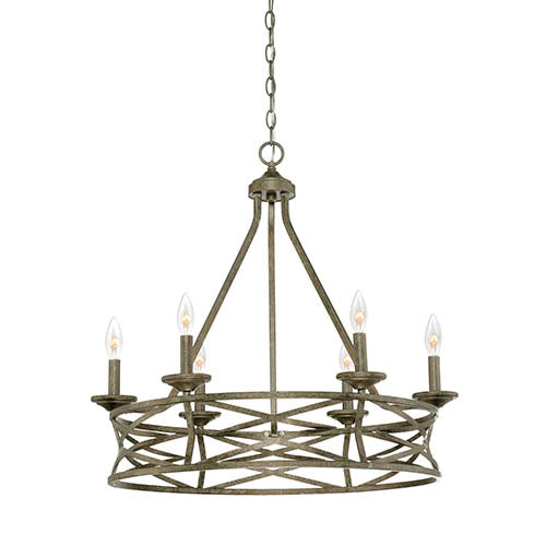 Rubbed Bronze Candle Chandelier