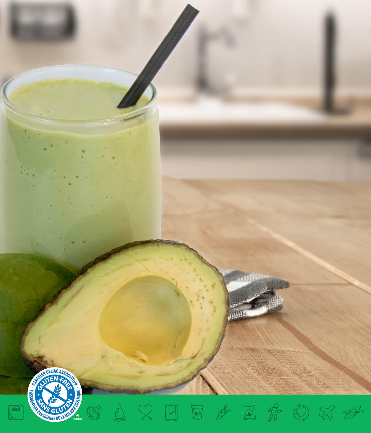 MSPrebiotic® Avocado Energy Recharger Smoothie