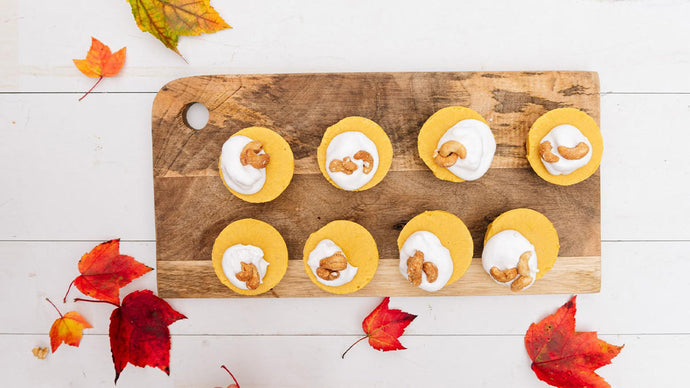 Mini No-Bake Pumpkin Cheesecake