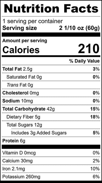 Hot Cereal Nutrition Facts