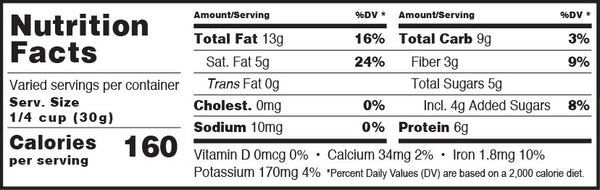 Super Hemp Blend Coconola Granola Nutrition Facts