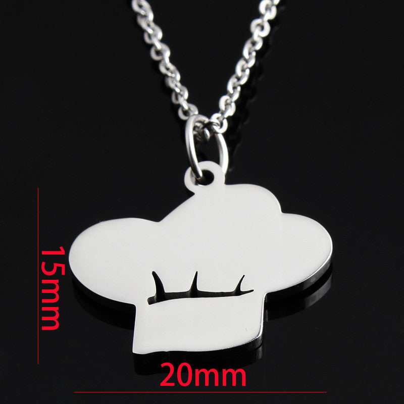 18K Gold or Silver Chef Hat Pendant Necklace
