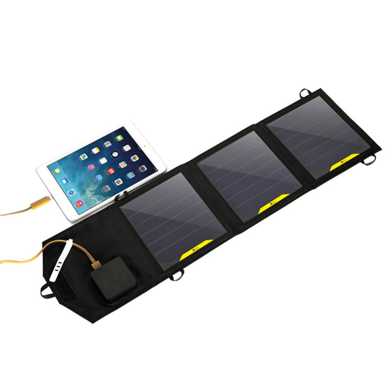 5V 10W Foldable Solar Charger with  Dual USB Port