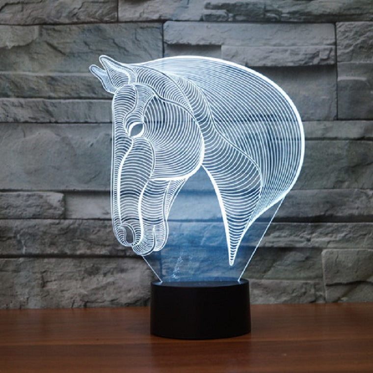 Creative Acrylic Horse LED Light