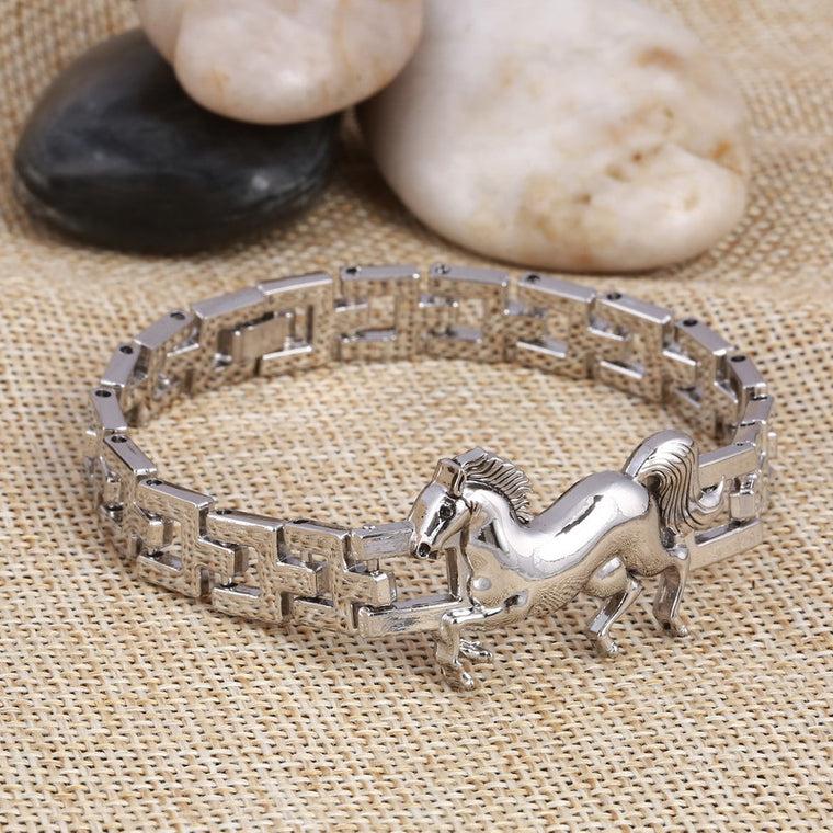Horse Stainless Steel Charm Bracelet for Women
