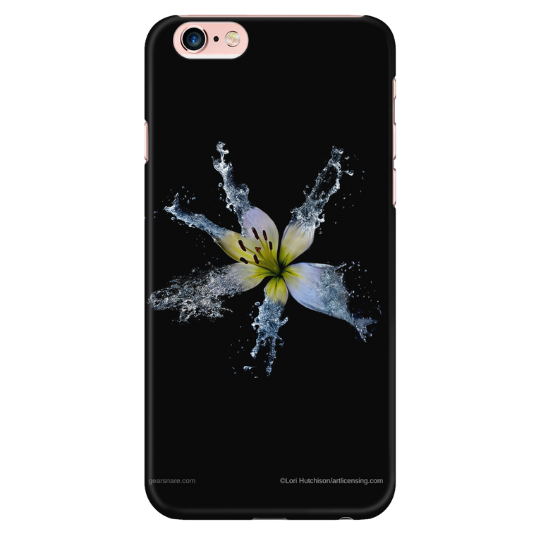 White Lily 2 Flower iPhone Case