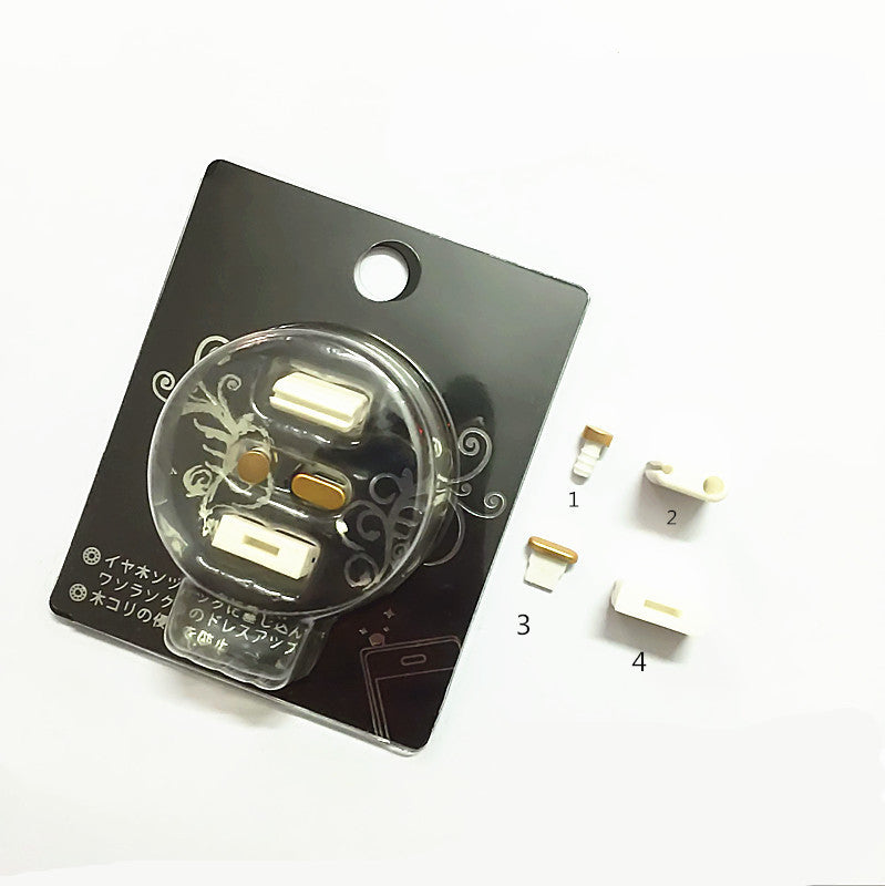 Mobile Phone Aluminum Dust Plug Set for iPhone
