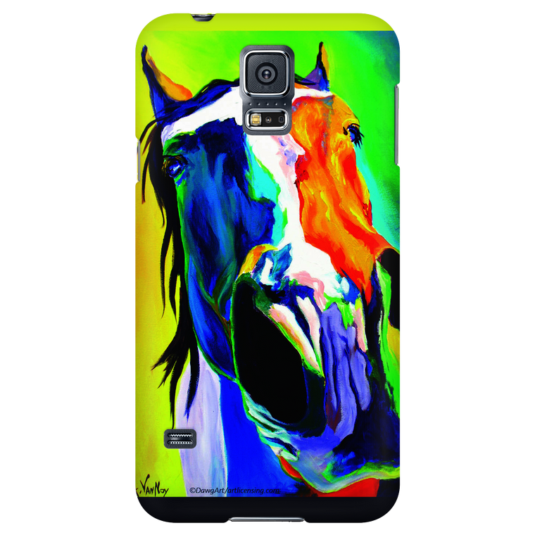 Blue and Gold Horse Galaxy Case