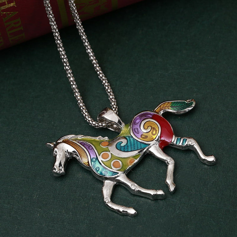 Colorful Enamel Horse Jewelry Sets For Horse Lovers