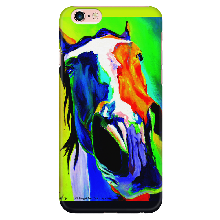 Blue and Gold Horse iPhone Case