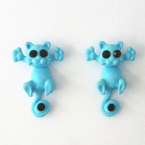Cute Cartoon Cat Earrings -- SPECIAL